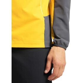 Haglöfs Morän Hood Men pumpkin yellow/magnetite